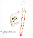 Fox and Finn Silicone Teething Necklace - Avery (Coral)