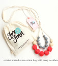 Fox and Finn Silicone Teething Necklace - Isabella (Coral)