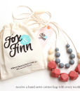 Fox and Finn Silicone Teething Necklace - Isabella (Marsala)