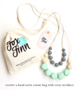 Fox and Finn Silicone Teething Necklace - Isabella (Mint)