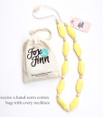 Fox and Finn Silicone Teething Necklace - Sophia (Lemon)