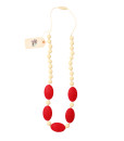 Fox and Finn Silicone Teething Necklace - Aubrey (Cherry)
