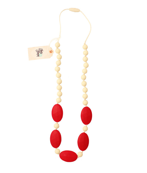 Fox and Finn Silicone Teething Necklace - Aubrey (Cherry)