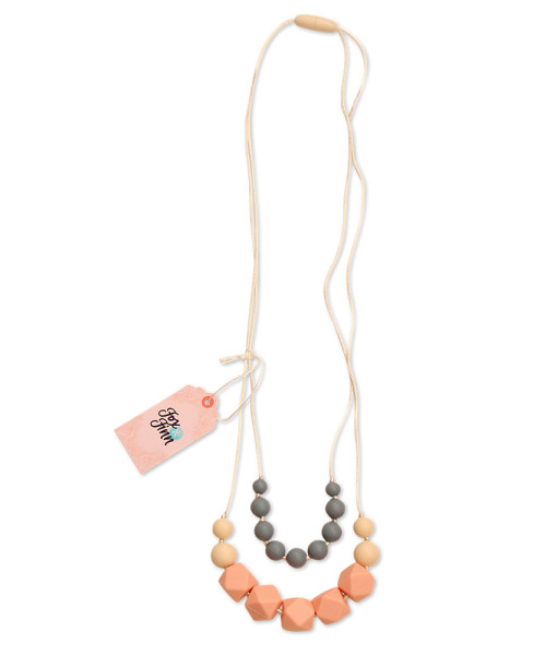 Fox and Finn Silicone Teething Necklace - Isabella (peach)