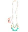 Fox and Finn Silicone Teething Necklace - Isabella (turquoise)
