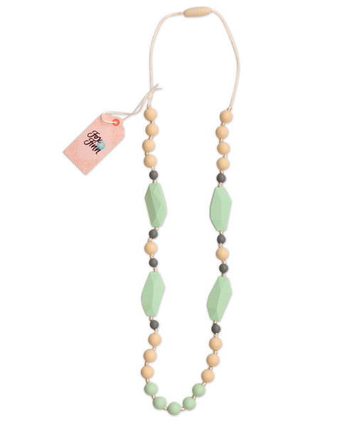 Fox and Finn Silicone Teething Necklace - Mackenzie (mint)