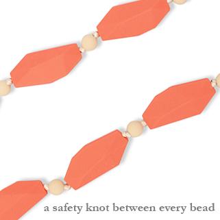 Sophia (grapefruit) safety knot